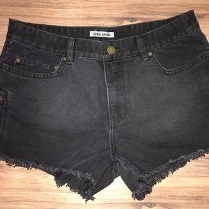 Billabong Black Denim Shorts